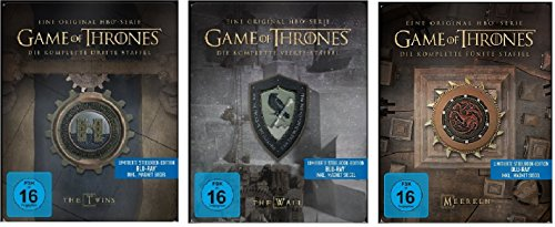 Game of Thrones Staffel 3-5 (3+4+5) / Steelbook Blu-ray Set