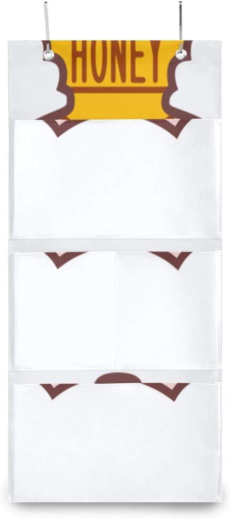 New color XDCGG Hanging Storage Very popular! Bag Cute Honey Nursery Bear Organi Holding