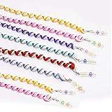 limeo pelo espirales Hair Twister Cabello espirales boda mujeres chica Torsion pelo, multicolor con brillantes pelo accesorios más colores Cabello Pelo accesorios 12unidades (Color aleatorio)