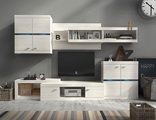 Wohnwand HECTOR, Anbauwand, Wohnzimmer Möbel, mit Beleuchtung