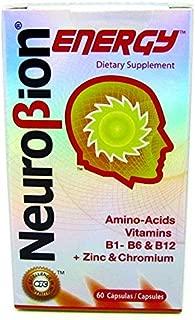 60 Caps Neurobion Energy - Amino Acids Vitamin B1 B2 B6 B12 - Increases Brain Alertness & Stamina