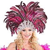 NET TOYS Copricapo con Piume Samba Rio Brasile Ornamento per Burlesque Fascia per Capelli Accessori per Travestimento -