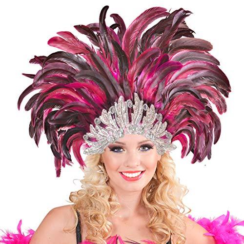 NET TOYS Samba Bijoux de Tête Accessoire en Plumes Rio Rio Bijou de Cheveux en Plumes Brésilien Plume Tête Bijoux Burlesque Hairband Bandeau Déguisement Costume Accessoire