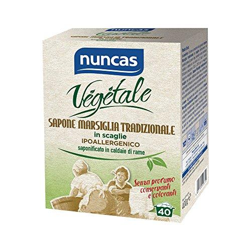 Nuncas Italia S.P.A. - Jabón vegetal de Marsella tradicional en escamas, 400 ml