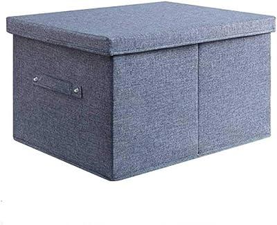 ECSD Caja De Almacenamiento con Tapa,Plegables Ropa Cesta del Almacenaje De Contenedores para La Oficina En Casa,Organizador De Toy Box: Amazon.es: Hogar