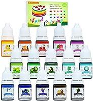 Lebensmittelfarbe - 15 Flüssige Lebensmittel Farben Set für Kuchen Backen, Kekse, Macaron - Hochkonzentrierte Food...