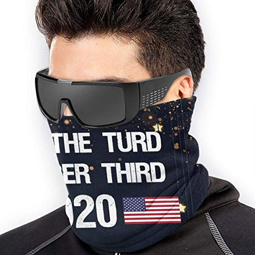 Lawenp Flush The Turd November Third Microfiber Neck Warmer Scarf Windproof Dust Proof Outdoor Sports Protection Face neck black