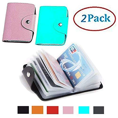 Transparent Plastic Credit Card Holder Protector Sleeve Unisex 2 pack