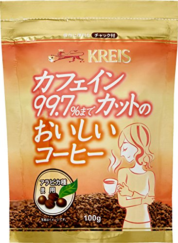 クライスカフェインカットのおいしいコーヒージッパーパック100g
