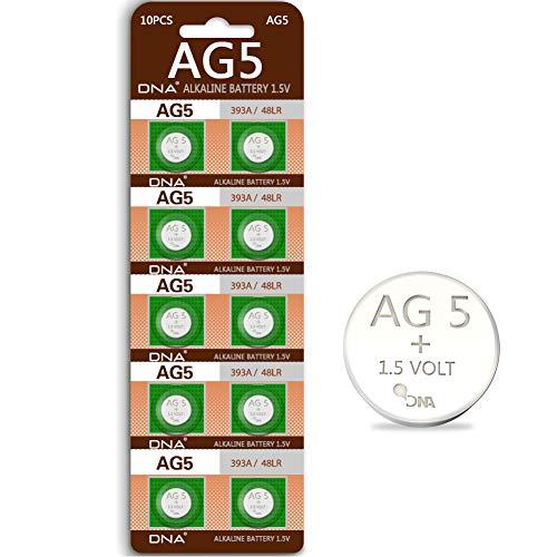 DNA AG5 LR48 Alkaline Knopfzelle (1,5 V, 10 Stück)