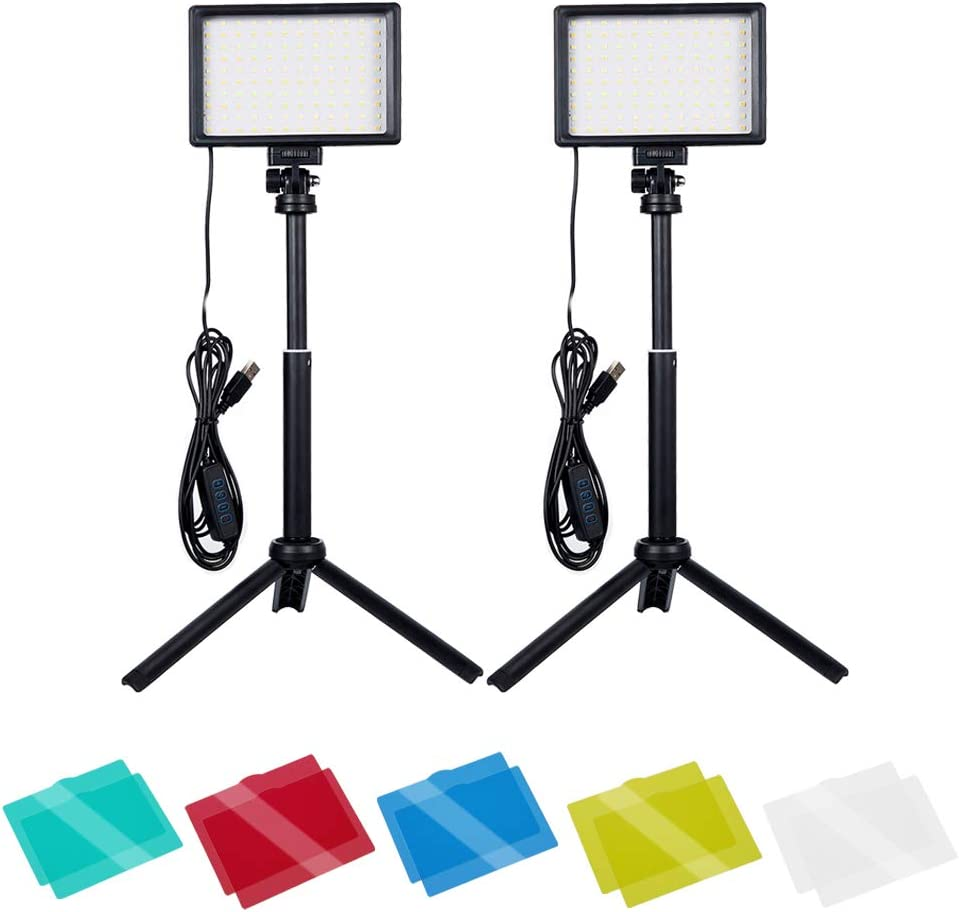 Dimmable 5600K USB 25% OFF LED Video with Limited time trial price Adjustable Tripod Light Stand