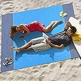 Afufu Alfombras de Playa, Toalla Playa Gigante 200 x 210cm, Manta Picnic Anti-Arena Impermeable con...