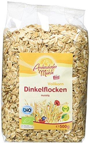 Antersdorfer Mühle Dinkelflocken, 6er Pack (6 x 500 g) - Bio