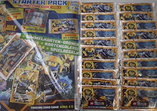 LEGO Nexo Knights 2 - Trading Cards - 1 Starter + 20 Booster - Deutsch