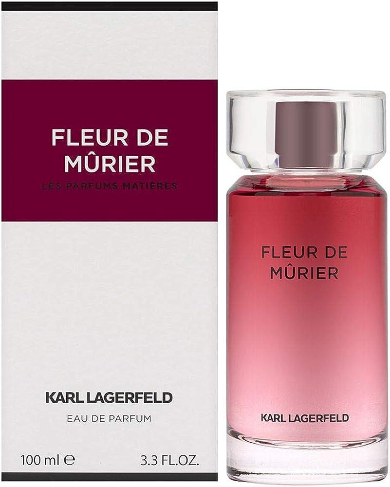 Karl lagerfeld fleur de murier,eau de parfum,profumo per donna, 100 ml KL008A04