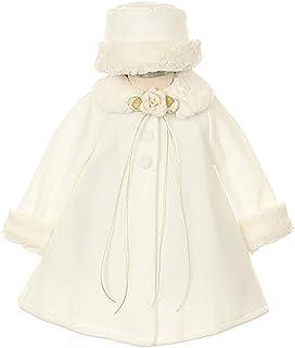 64555219ef9 Cozy Fleece Cape Jacket Coat Pink White Ivory Black Red Girls   Infant Hat  Set