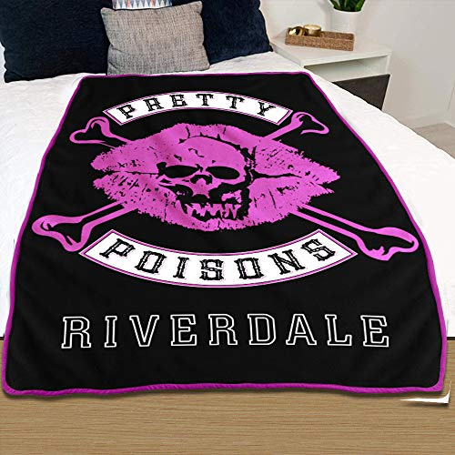 Riverdale Pretty Poisons Throw Blanket Black Pink White 46 X60 Plush Fleece Throw Riverdale Bedding Gift Blankets Cheryl Blossom Toni Officially Licensed By Justfunky Buy Online In Japan At Desertcart Jp Productid 175479901