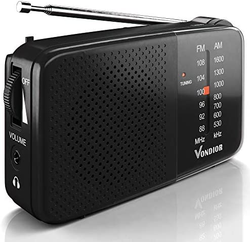 AM FM Radio Best Reception and Longest Lasting AM FM Radio Portable Player Operated by 2 AA product image