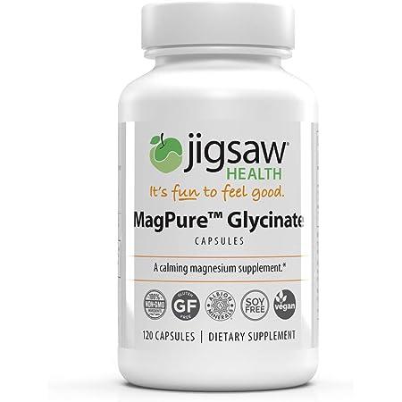 MagPure - Jigsaw Health - Premium Magnesium Capsules - 120 ct - (Glycinate)