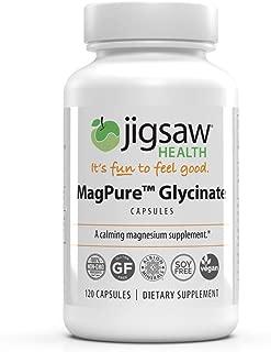 MagPure Glycinate - Jigsaw Health - Premium Magnesium Glycinate Capsules - 120 ct