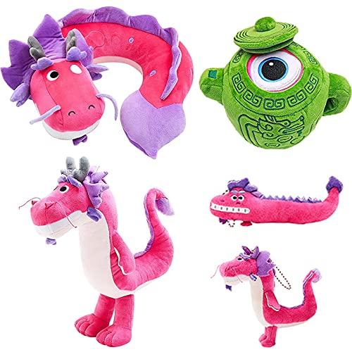 Wish Dragon Peluche, tetera mágica de peluche con colgante de 2 piezas para niños y niñas, regalo de cumpleaños (1set wish dragon doll)