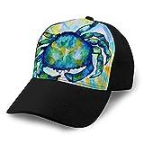 hyg03j4 0 Gorras de Malla Ajustables Unisex Snapback Hat Cangrejo Acuarela Colorido Abstracto Azul