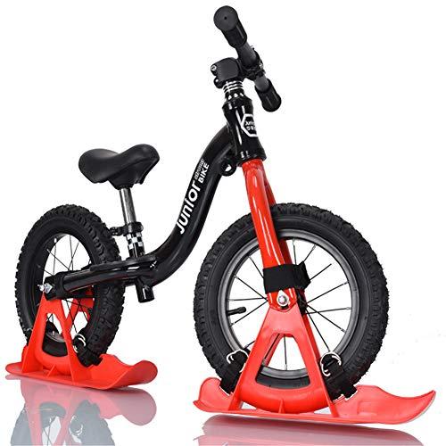 Guoyajf Bicicleta De Equilibrio Deportiva De 12 Pulgadas con Tabla De Trineo para La Nieve, Bicicleta Profesional Ligera Sin Pedales para Niños Pequeños para Niños De 18 Meses A 6 Años