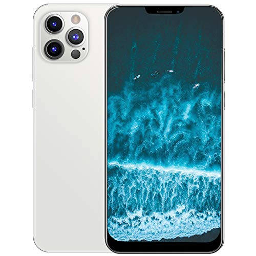 Smartphone Desbloqueado I12Promax Dual Sim, 6.26 Bangs Screen Android Desbloqueado TeléFono TeléFono Celular Dual Sim De 1 + 8 Gb Con Reconocimiento Facial Smart Wake-Up Wifi...