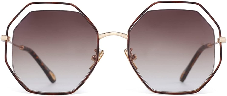 YUBINtaiyangjing Fashion Sunglasses Polygonal Net Red Glasses Female Korean Version Tide Personality Transparent Sunglasses Female The B