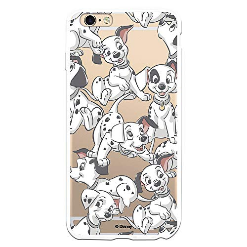 Funda para iPhone 6 Plus - 6S Plus Oficial de 101 Dálmatas Cachorros Siluetas para Proteger tu móvil. Carcasa para Apple de Silicona Flexible con Licencia Oficial de Disney.