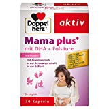 Doppelherz Mama plus Tabletten / Nahrungsergänzungsmittel mit Folsäure zur Unterstützung der Zellteilung während der Schwangerschaft / 1 x 30 Kapseln