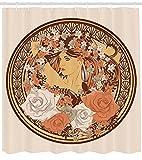 Belleza Flores Cuarto De Baño Cortina De Ducha Tela Impresión Decoración Del Hogar Bañera Cortina