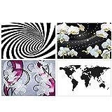 GREAT ART® 4er Set XXL Poster Motive – Grafiken – 3D