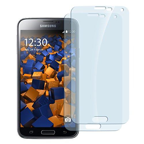 mumbi Hart Glas Folie kompatibel mit Samsung Galaxy S5 mini Panzerfolie, Schutzfolie Schutzglas (2x)
