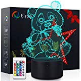 Panda Night Light, 3D Optical Illusion Giant Panda Bear Lamp, Desk Bedroom Decor for Boys or Girls, Touch & Remote - Control & 16 Color Toys Light, Perfect Gift for Kids Friends Birthdays Christmas