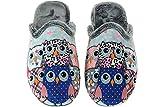 Zapatillas Casa Mujer Invierno Divertidas - Chinela Destalonada Semidescalza - Fabricadas en España - Marcas SEVILLAS y ALBEROLA Buhos Talla 40