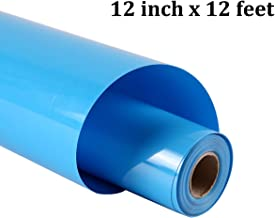 guangyintong Heat Transfer Vinyl Roll for T-Shirts 12 Inch by 12 Feet No Adhesive Matte (Blue A14)