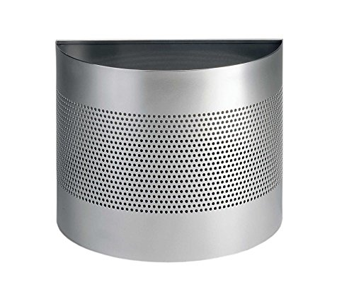 Durable 331723 Basurero medio redondo 20 litros, perforación 165 mm, plata