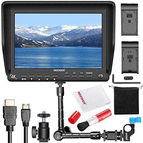 Neewer NW-S7 7 Zoll 4K HD Kamera Feld Monitor Set: 1920X1200 IPS Bildschirm, Magischer Arm, Reinigungsset inkl.Linsenbürste und Reinigungstuch Pentax