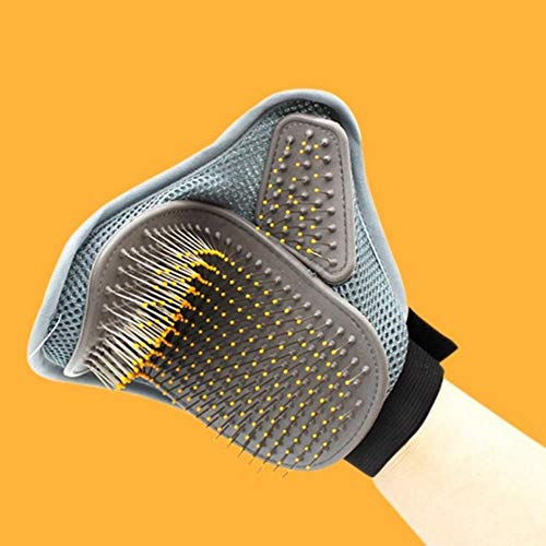 TUOP - Guantes de aseo para mascotas, cepillo para depilación de pelo de gato y perro
