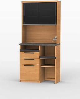 パモウナ 食器棚SY アイダホオーク 幅90×高さ198×奥行50 日本製 SY-900R