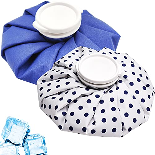 Ice Pack for Injuries, Hot & Cold Therapy, Teeth Pain Cold Pack, Headaches Cold Ice Bag, Menstrual Pain Hot Water Bag, Backs Fast Release Reusable Ice Bag(2 Packs/9 Inch) (Pattern C)