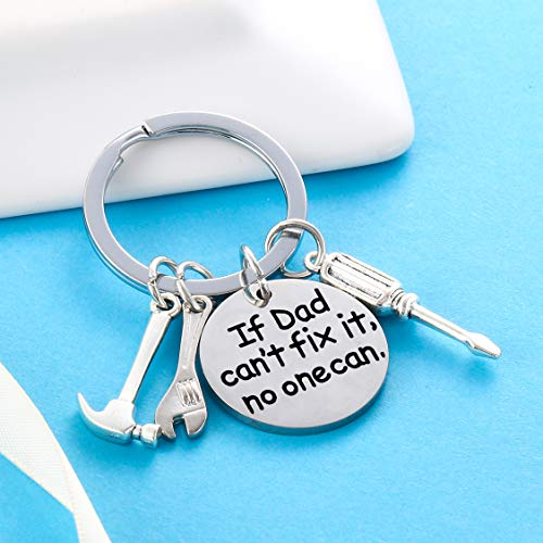 Product Image 4: Dad Keychain Dad Gifts from Son Daughter Christmas Gift Keyring Father's Day Gift for Dad Papa Daddy (If dad Can't fix it, no one can)