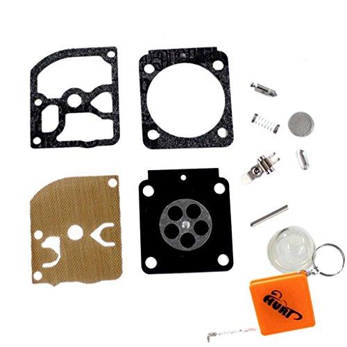 HURI Carburateur Membranes Joint Kit RB-100 pour ZAMA C1Q-S157 C1Q-S69 C1Q-S69A C1Q-S70 C1Q-S71 C1Q-S73 C1Q-S79 C1Q-S80B C1Q-S80C C1Q-S93 C1Q-S95 C1Q-S97 C1Q-S97A C1Q-S79A C1Q-S93A STIHL FS38 FS55 FS75 FS85 HS45 HL45 BG45 BG55