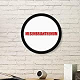 Mesembriantemo Fiore Rosso Pianta Rotonda Cornice Art Painting Legno Casa Decorazione da Parete, s