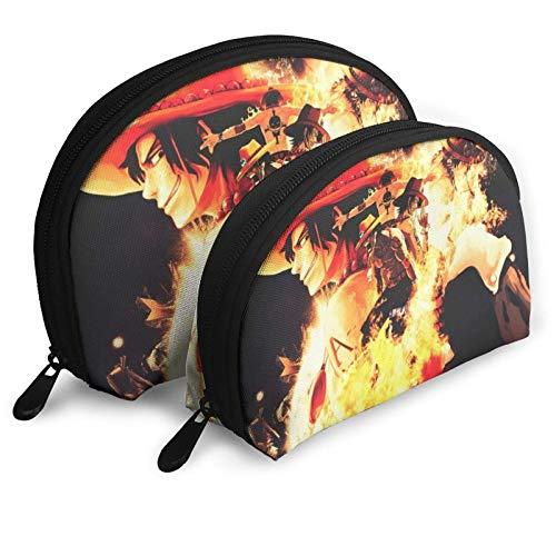 ACE Cosmetic Bags Portable Bag Clutch Pouch Set Women Men Travel Purse with Zipper Handbag Organizer 2Pcs