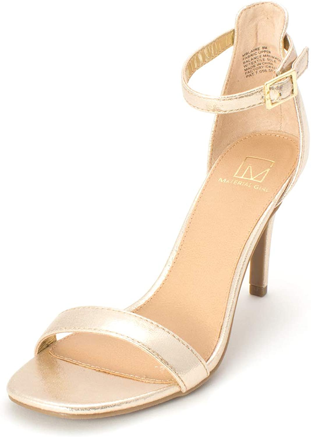 Material Girl Womens Blaire2 Open Toe Ankle Wrap Classic Pumps