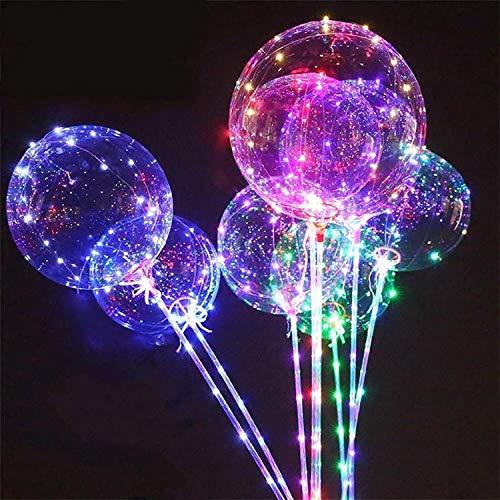 6 Pcs Led-Ballonleuchten, Tragbare Dekorative Lichterketten Für Den Innen- Und Außenbereich Für Garten-, Terrassen-, Wohn- Und Partydekorationen