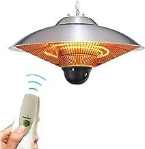 2500W Electric Patio Heater Outdoor Indoor, Industry Hanging Heater,Adujstable Portable Patio Heater Electric Freestanding...