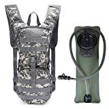 G4Free Military Hydration Pack Backpacks with 3L Upgraded Bladder for Hiking, Biking, Running, Walking and Climbing(New ACU Camouflage)